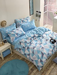 Mingjie Fresh Style Blue Sanding Bedding Sets 4pcs Duvet Cover Sets Bed Linen China Queen Size and Full Size