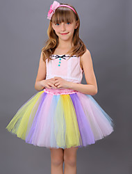 Puff Skirt  Tutu Skirt  Children's Yarn Skirt  Dance Tutu Dress  Princess Tutu Skirt  Rainbow Colorful Tutu Skirt Kids Dance Costumes