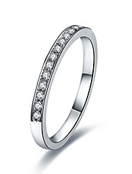 Top Quality Semi Mount Band Ring Solid Silver Jewelry SONA Synthetic Diamond Ring Band Wedding for Women Platinum Plated