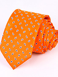 Orange Cashew Silk Tie