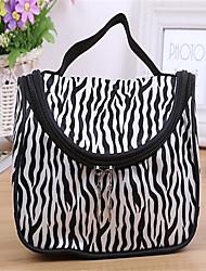 Fashion Leather Zebra Pattern Makeup Bag(1Pc)