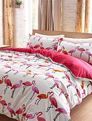 Flamingo Bettbezug setzt 100 Baumwolle Königin König