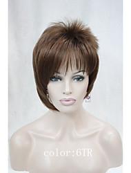 новые асимметричные челки наклонные короткие прямые синтетические волосы женщин парик