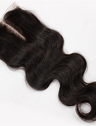 """8""""-34"""" Black Lace Front Body Wave Human Hair Closure Medium Brown French Lace 40~60g per piece gram Cap Size"""