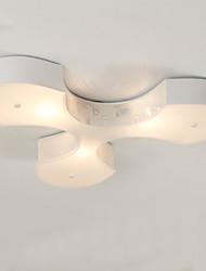Bidesen Simple European Style Modern IKEA Restaurant Study Bedroom Lighting Lamps Large Clover Ceiling Lamps