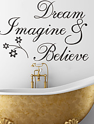 Dream Imagine And Believe Quote Wall Decal Zooyoo8182 Decorative Removable Vinyl Wall Sticker