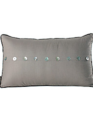 Modern Linen Shell Button Decorative Pillow Cover