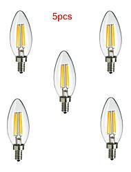 5 ед. HRY E14 4 W X 400 LM К Тёплый белый/Холодный белый CA Декоративная LED лампа накаливания AC 85-265 V