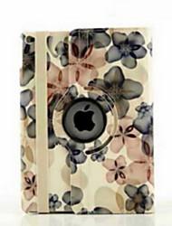 9,7 pouces de 360 degrés de rotation motif fleur de pêcher avec des cas de support pour iPad air 2 / ipad (6 couleurs assorties)