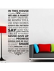 nous sommes la famille murales de devis de décoration de la maison décalque zy8084 adesivo de parede sticker mural en vinyle amovible