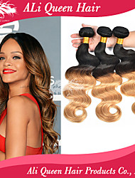 Ali Queen Hair 6a Brazilian Ombre Hair Extensions Body Wave 3 bundles Two Tone Ombre Hair Weaves  Free Shipping