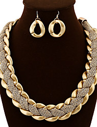 Meiyy Women's Fashion High Quality Weave Necklace Earring Suit