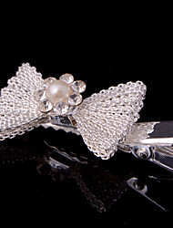 New Bow Net Barrette With Rhinestone Wedding/Party Headpiece(Set of 4)