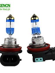 lampe automatique de la pointe dorée or diamant voiture ampoule de phare halogène filtre uv xencn h11 12v 55w de 4300K