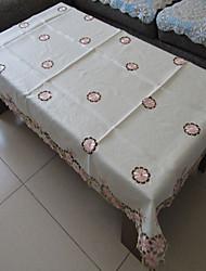 klassieke witte geborduurde tafelkleden rechthoek (grootte: 100cmx150cm)