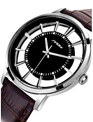 SINOBI  Watch Women's Black Leather Quartz Watch