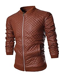Men's Casual Fashion Leather Jacket