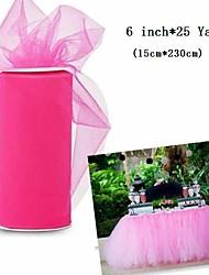 decoração do casamento tule clássico carretel de 25 jardas para a mesa de aniversário decoração de cores sortidas (6inch * 25yards)