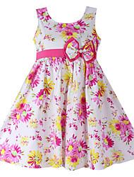 Robe Fille de Imprimé Coton Eté / Printemps Rose