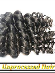 3pcs 8 '' - 34''no versant vierge de cheveux russe couleur naturelle océan remy de vague cheveux noirs sans enchevêtrement