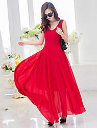 Damen Kleid Leger / Strand Maxi Chiffon