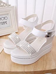 Women's Shoes Wedge Heel Wedges/Slingback Sandals Dress White/Silver