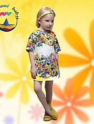 Vestido Chica de - Verano - Mezcla de Algodón - Media Manga