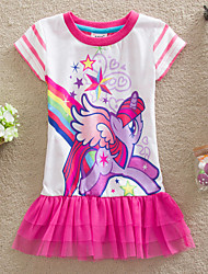 Vestir Hot Sale Girl's Summer Short Sleeve Princess Brand Children Tutu Dresses (Cotton)