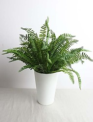"17.7"" High Quality Hand-made Artificial Fern Leaf Set of 1"