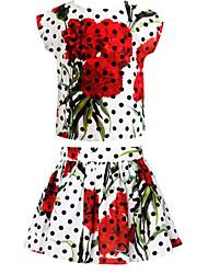 2015 Summer Girls Clothing Sets Floral Kids Clothes Sets Brand Children Clothing Set Designer Baby Girl Clothes
