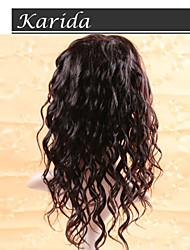 Vente en gros corps vague armure de cheveux et perruques, cheveux humains pleine dentelle perruques avec frange, top en soie pleines