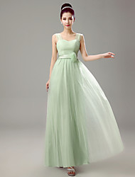 Dress - Clover Sheath/Column Straps Floor-length Chiffon