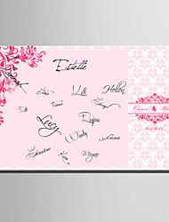 corail e-FOYER toile de signature personnalisée frame-mariage rose