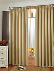 Country Curtains® One Panel Beige Solid Blackout Curtain
