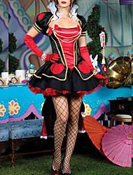 noble reine halloween noir et rouge au-dessus du genou robe femmes costumefor carnaval