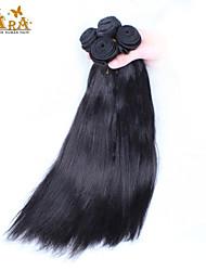 "4Pcs Lot 10-26"" Unprocessed Eurasian Virgin Human Hair Yaki Straight Color Natural Black Hair Bundles/Wefts"