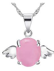 Women's Elegent Angel's Wing Opal Pendant