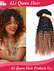 Ali Queen Hair 6a Brazilian Ombre Hair Extensions Deep Wave 3 bundles Two Tone Ombre Hair Weaves  Free Shipping