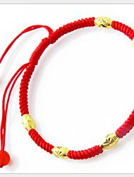 Bracelet Collection personnelle de perle/Chaîne Doré/Agate/Dorage 18K/Corde Onyx Femme