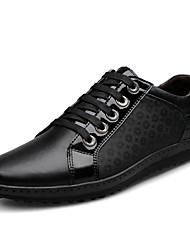Men's Shoes Casual Leather Fashion Sneakers Black