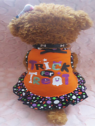 Dog Dress Orange Summer Polka Dots / Hearts
