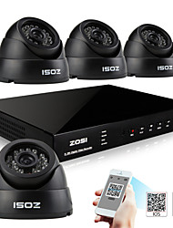 ZOSI® 4 Channel H.264 HDMI Realtime 960H DVR 700TVL Day Night Indoor IR CCTV Camera Security System