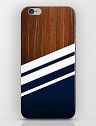 padrão marinha de madeira de volta caso para iphone 6s 6 mais
