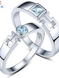 Couple de Bagues ( Argent sterling/Cristal ) Mariage/Soirée/Quotidien/Casual/Sports