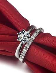 Never Fade Crown 1CT Sterling Silver Ring Set Women Jewelry SONA Synthetic Diamond Rings Engagement Gift Platinum Plated