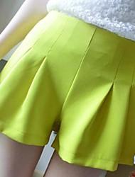 De las mujeres Pantalones Hasta la Bota - Casual Mezclas de Algodón