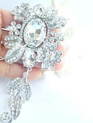 Bridal Accessories Silver-tone Clear Rhinestone Crystal Bridal Brooch Wedding Deco Bridal Bouquet Wedding Jewelry