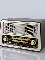 retro desktop oude radio am / fm digitale radio