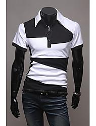 Informeel Shirt Kraag - MEN - T-shirts ( Katoen/Katoenmengeling )met Korte Mouw