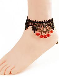 mulheres moda jóia corpo da praia do verão encanto estilo gótico tornozeleiras do laço do vintage